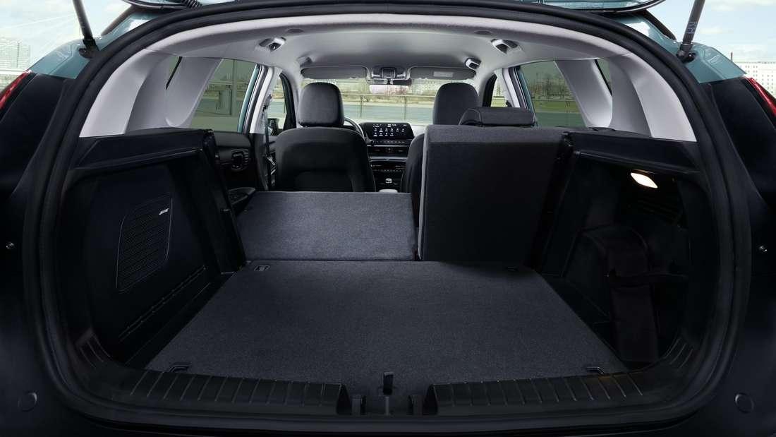 Der Kofferraum des Hyundai Bayon