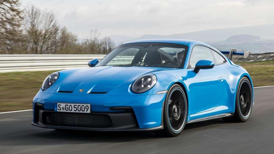 Der neue Porsche 911 GT3 (992) von rechts vorne