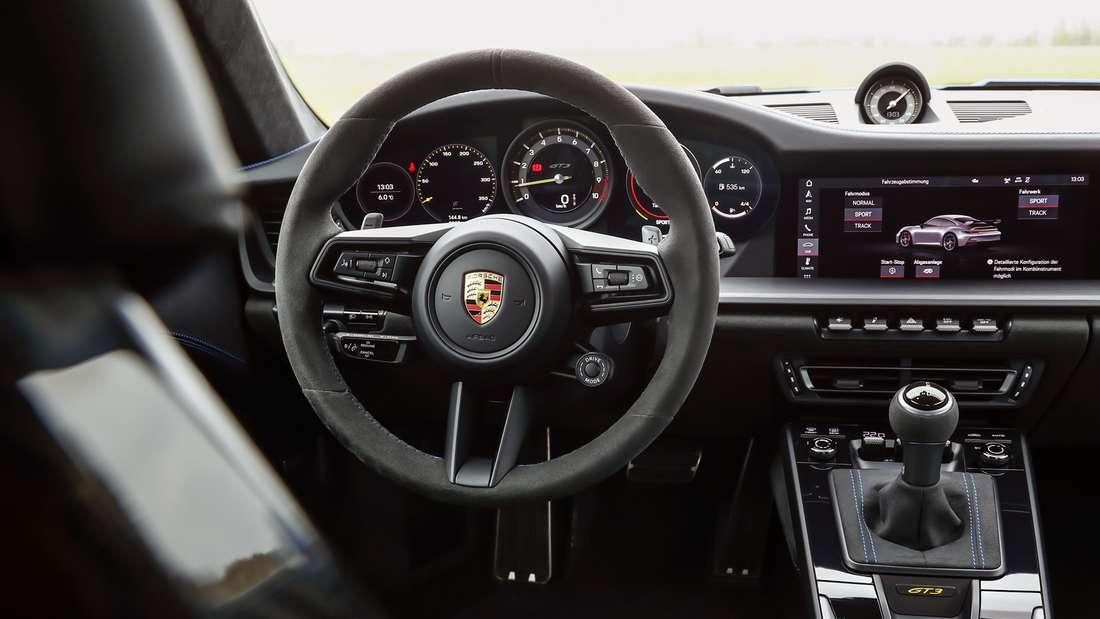 Das Cockpit des neuen Porsche 911 GT3 (992)