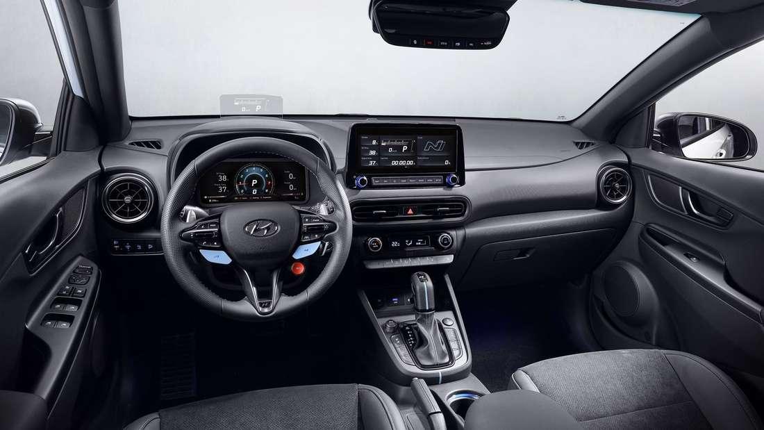 Das Cockpit des Hyundai Kona N