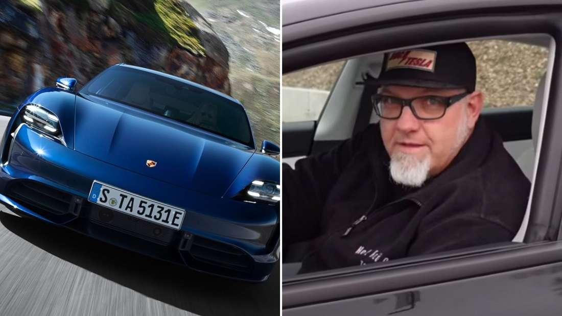 YouTuber Ove Kröger testet den Porsche Taycan.