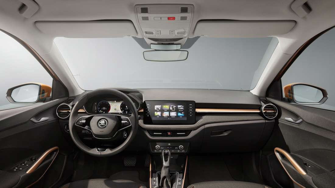 Innenraum des Škoda Fabia