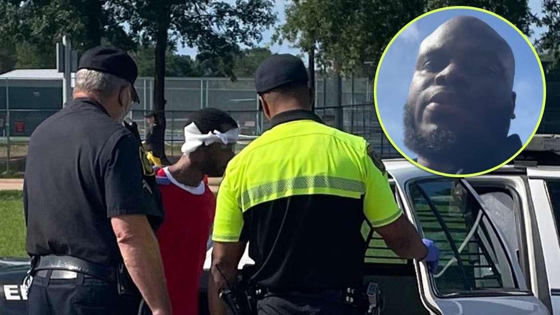 Ein Mann wird verhaftet, nachdem er in einen Ford Transit einbrechen wollte.