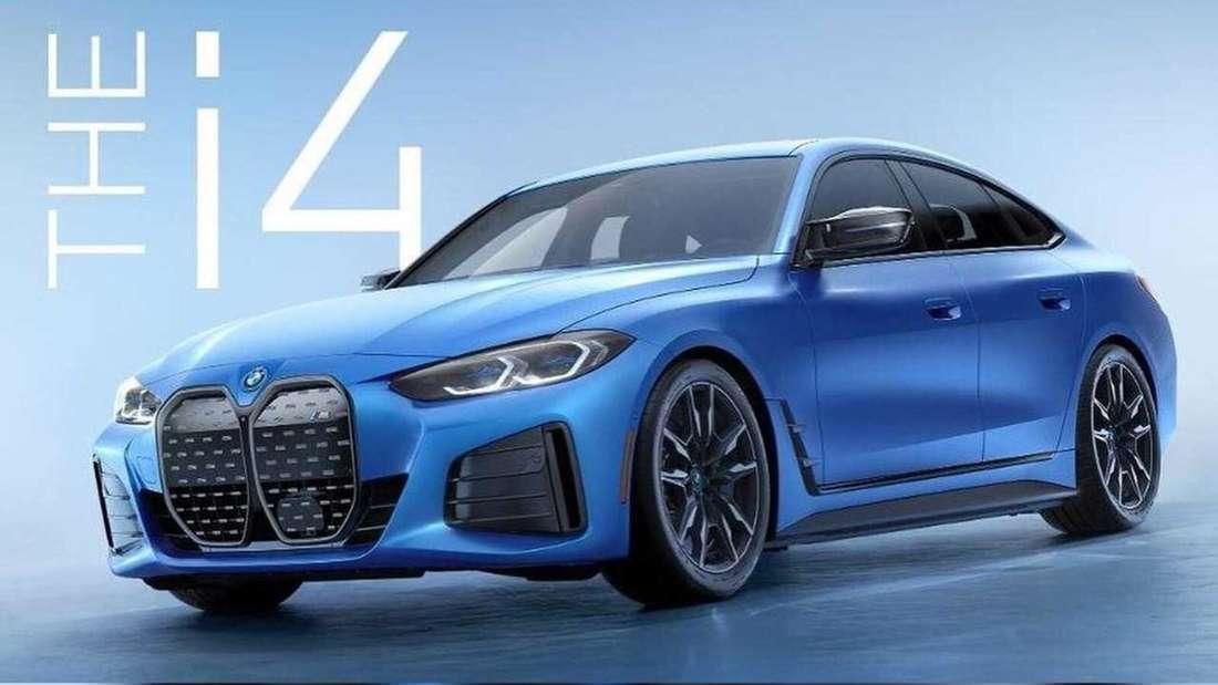 BMW i4 M50 von schräg vorne, stehend