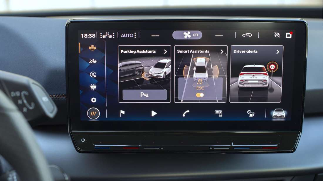 Der 12-Zoll-Touchscreen im Cupra Born