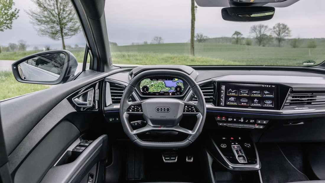 Interieur des Audi Q4 e-tron Sportback 50 quattro