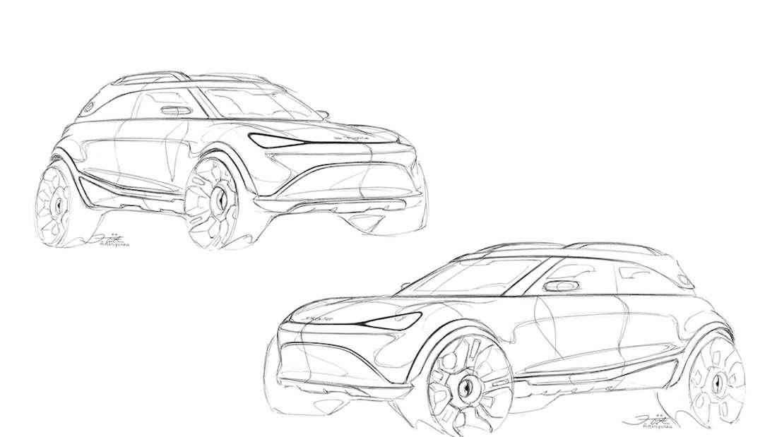 Zeichnungen des künftigen Smart-SUV
