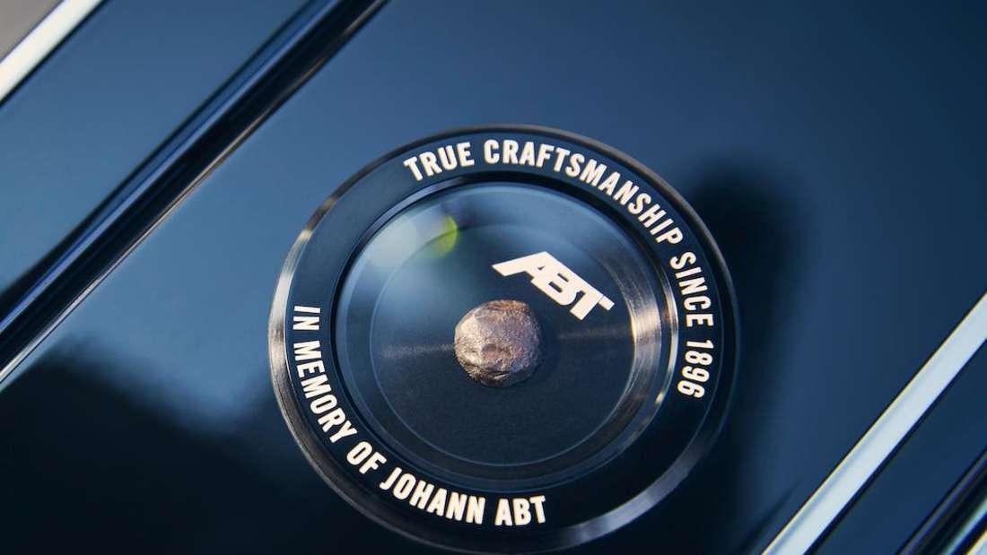 Amboss-Bruckstück im Innenraum des Abt Audi RS6 Johann Abt