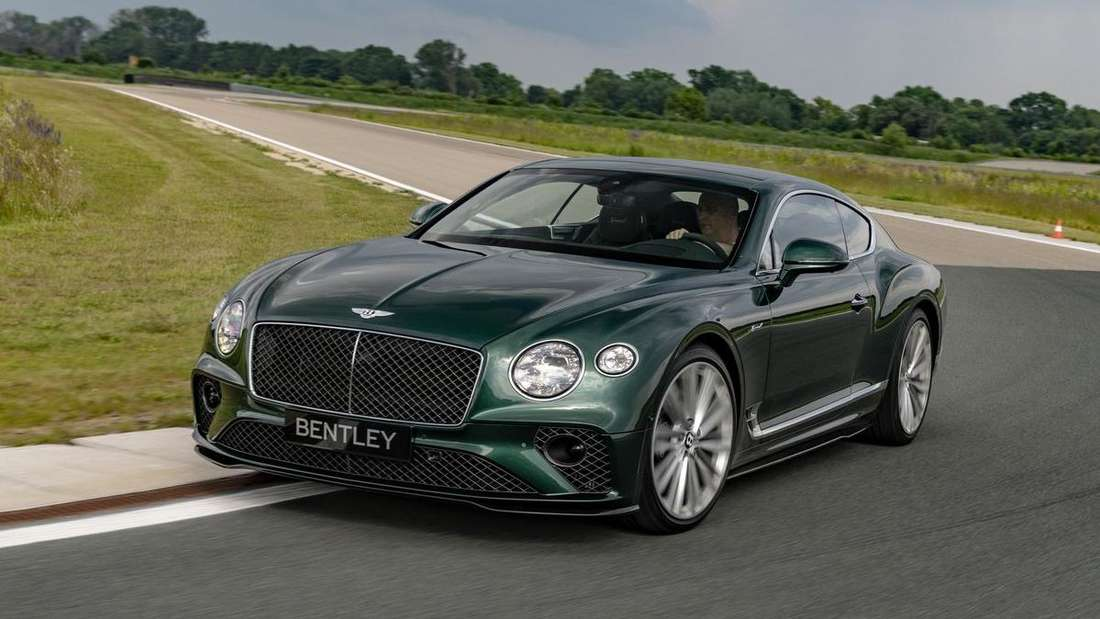 Bentley Continental GT Speed auf Rennstrecke