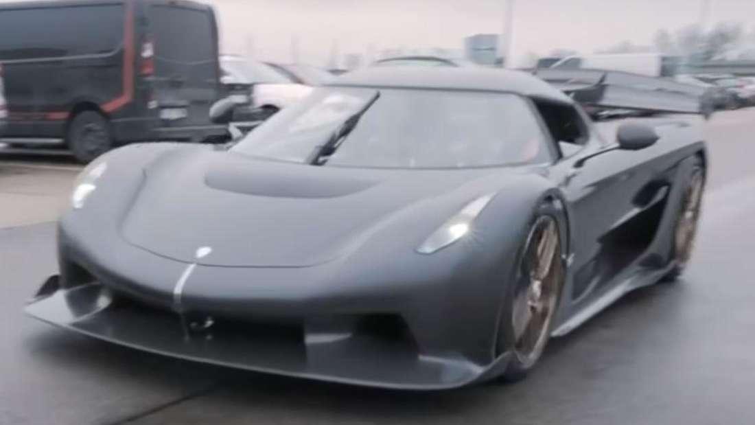 Der Koenigsegg Jesko in einem YouTube-Video
