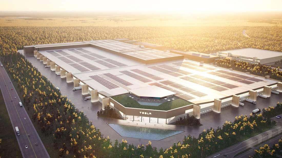 Grafische Darstellung der Tesla-Gigafactory Berlin-Brandenburg