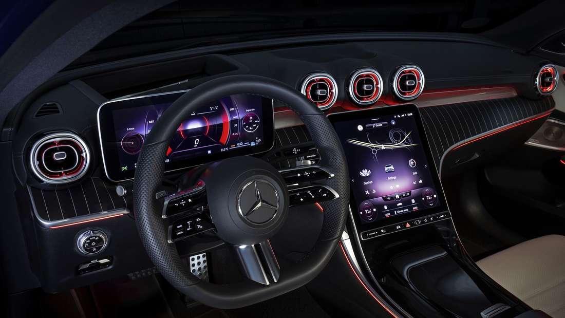 Interieur des Mercedes C 300 d T-Modell