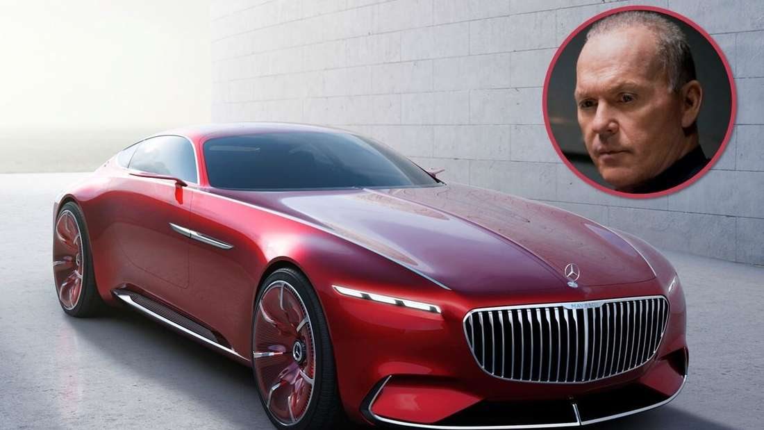 Composing: Vision Mercedes-Maybach 6 und Michael Keaton (Symbolbild)