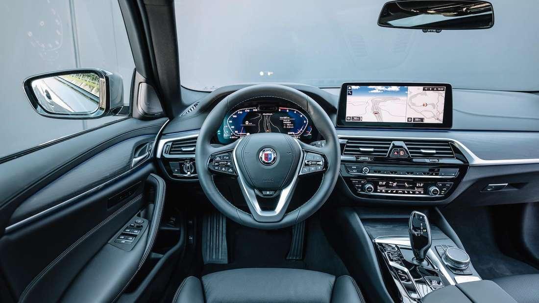 Cockpit des BMW Alpina D5 S