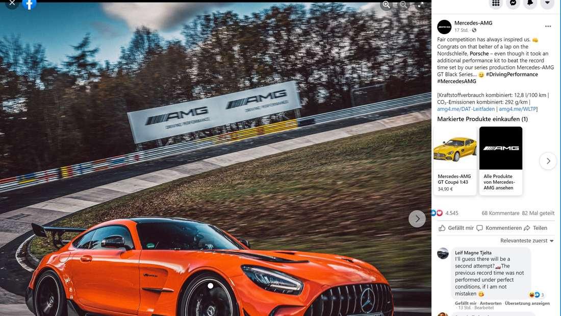 Mercedes-AMG-Post auf Facebook