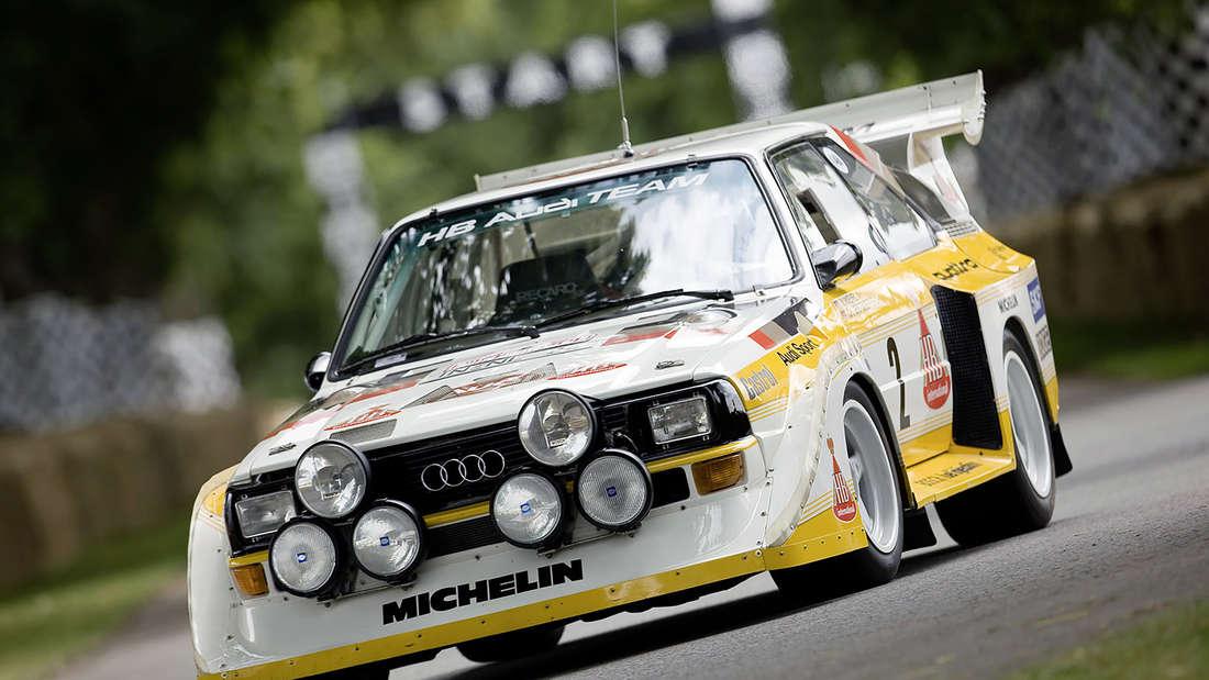Audi Sport quattro im Rallye-Einsatz