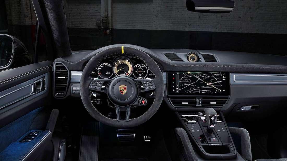 Das Cockpit des Porsche Cayenne Turbo GT