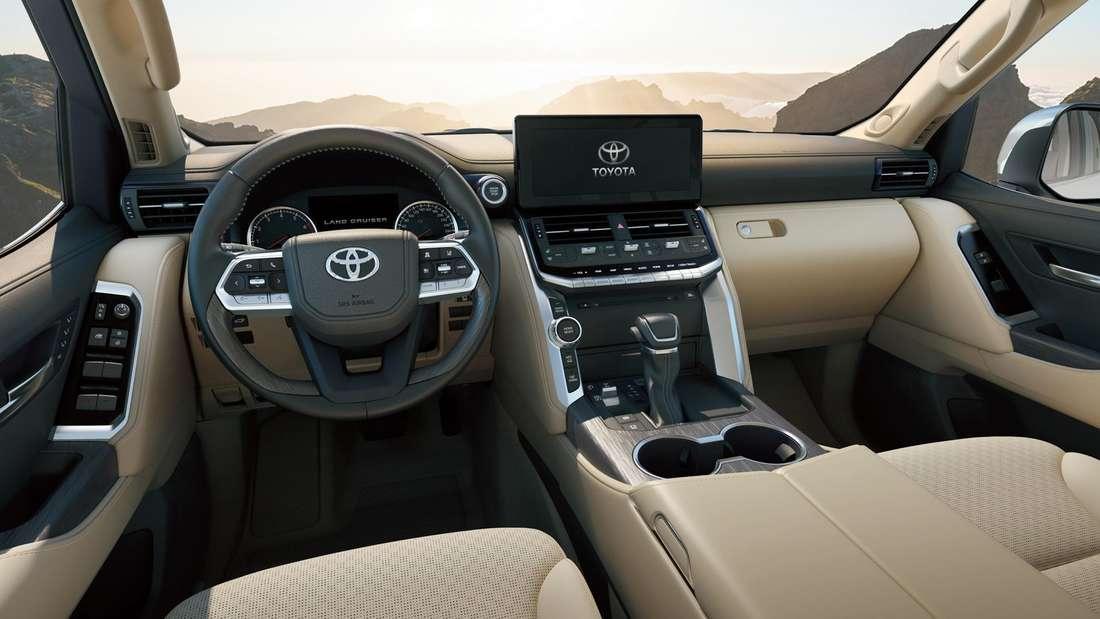 Interieur des Toyota Land Cruiser