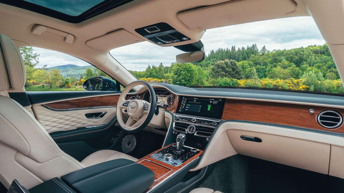 Interieur des Bentley Flying Spur Hybrid