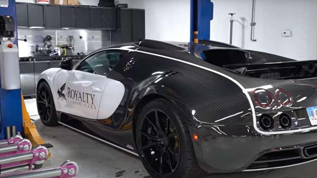 Youtube-Video: Bugatti Veyron 16.4 in der Werkstatt
