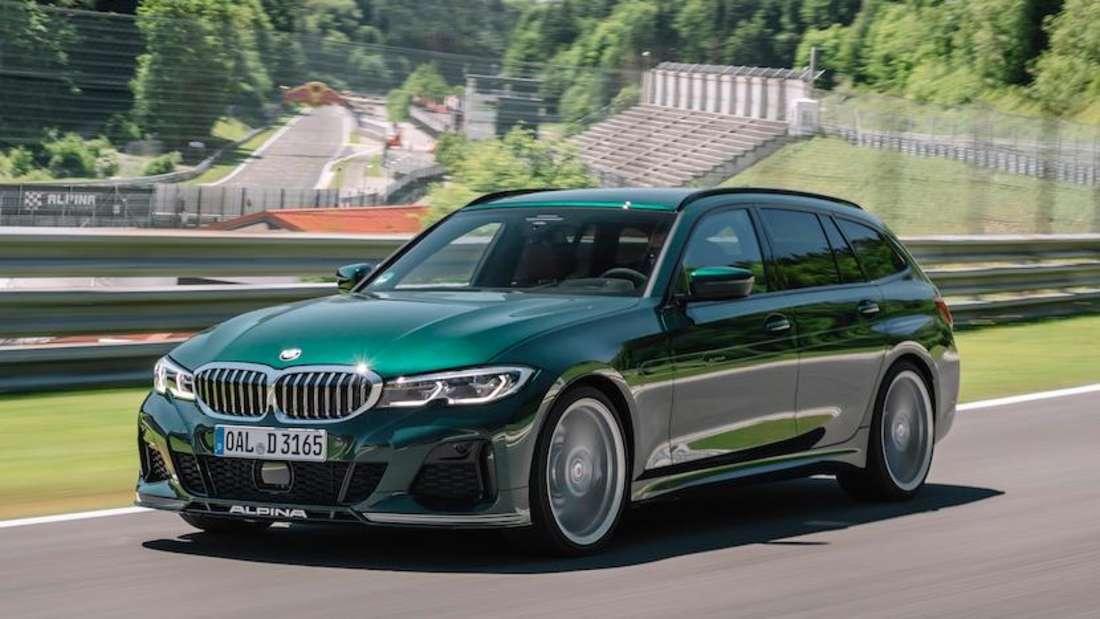 BMW Alpina D3 S Touring, fahrend