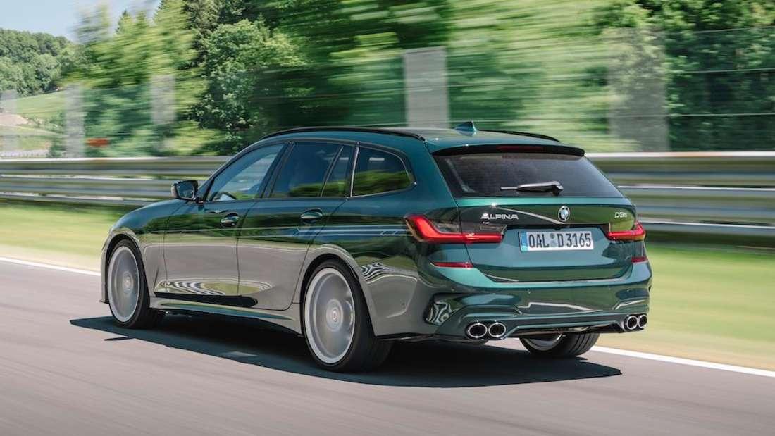 BMW Alpina D3 S Touring, fahrend, von setlich hinten