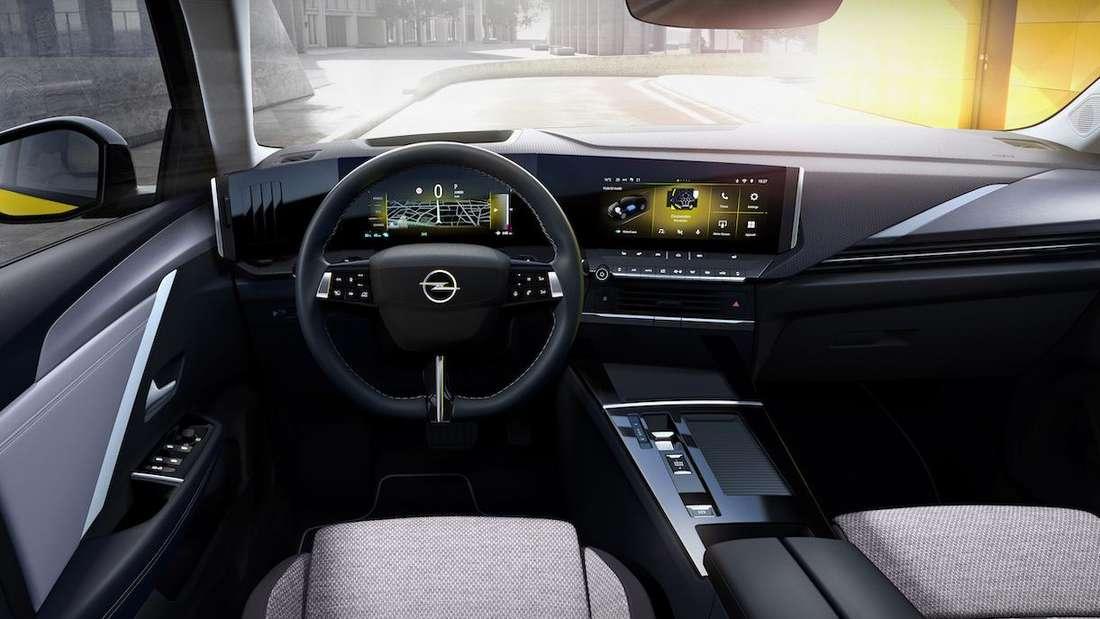 Blick ins Cockpit des neuen Opel Astra