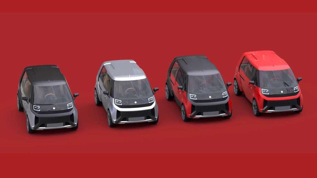Mehrere Fox E-Mobility Mia 2.0 stehen in einer Reihe