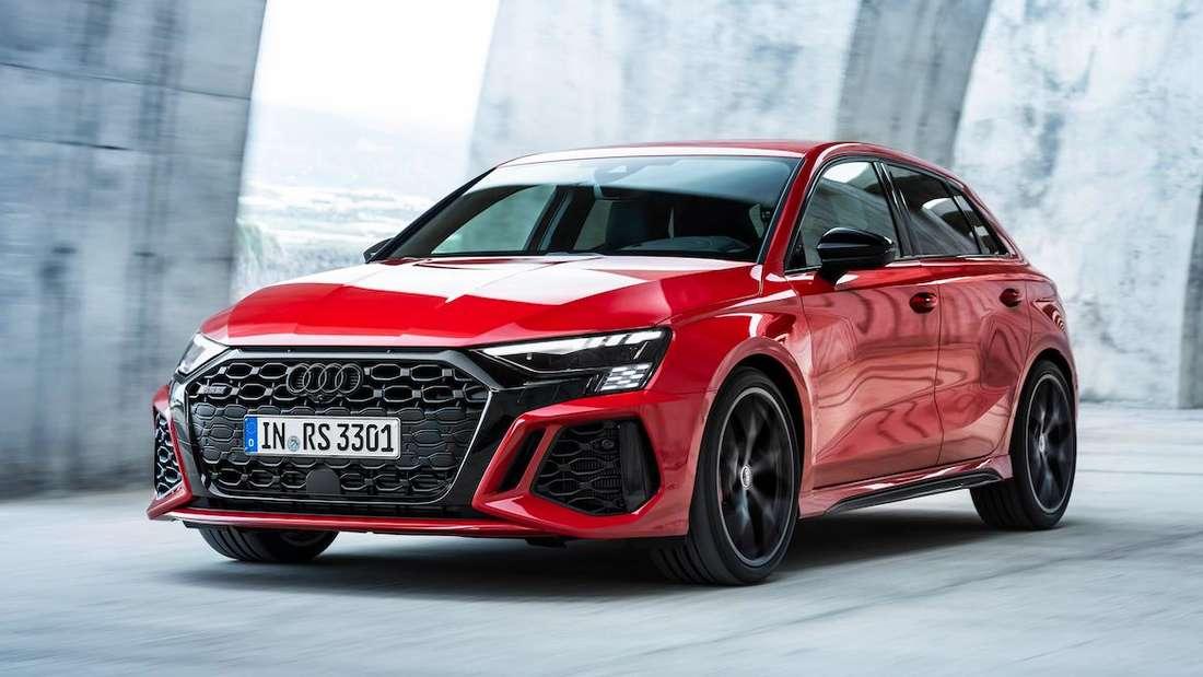 Fahraufnahme eines Audi RS3
