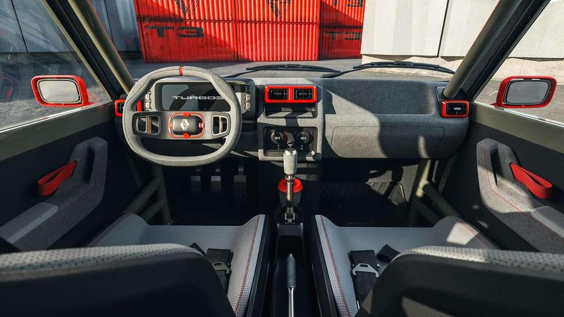 Blick ins Cockpit eines Legende Automobiles Turbo 3