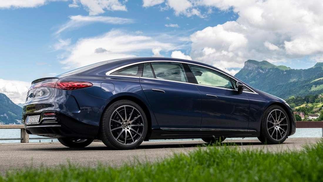 Die Seitenlinie des neuen Mercedes EQS 450+