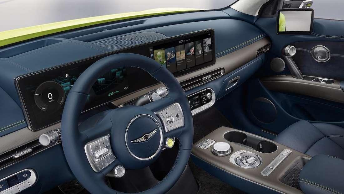 Blick ins Cockpit eines Genesis GV60