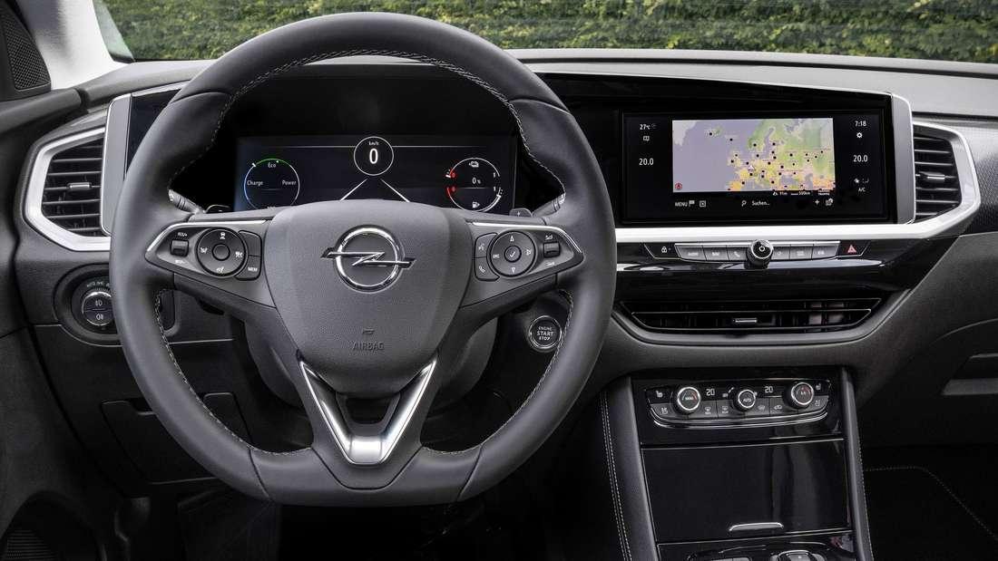Interieur des Opel Grandland Hybrid4