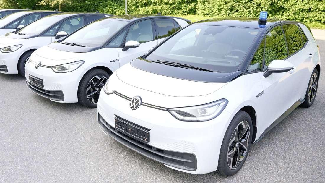 VW-ID3-Modelle gehen künftig für die Polizei Niedersachsen auf Verbrecherjagd