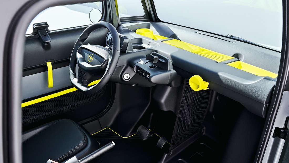 Innenraum des Opel Rocks-e