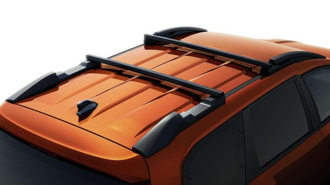 Der Dachgepäckträger eines Dacia Jogger