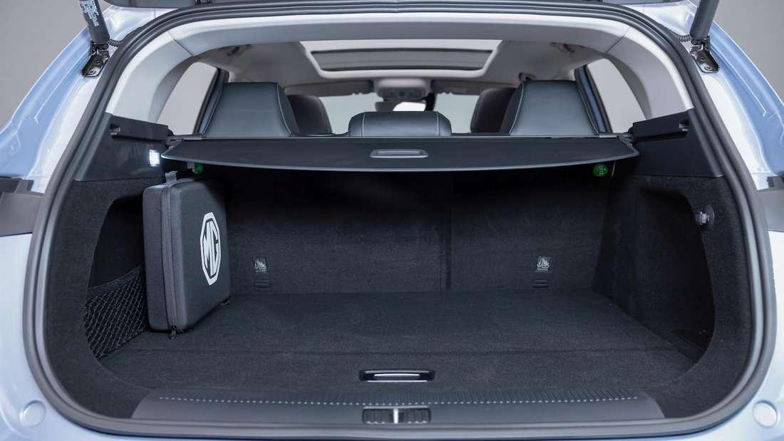 Ein Blick in den Kofferraum eines MG Marvel R Electric
