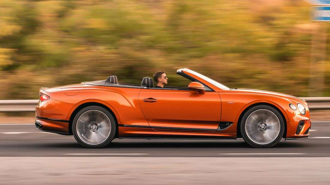 Bentley Continental GTC Speed, fahrend