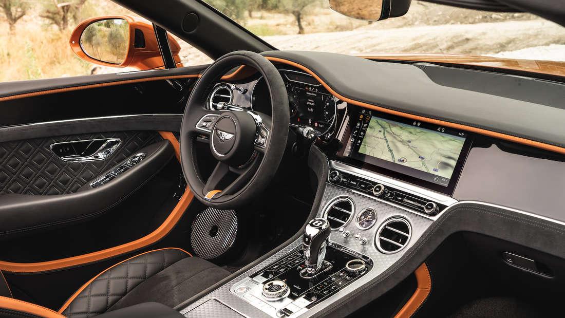 Interieur des Bentley Continental GTC Speed