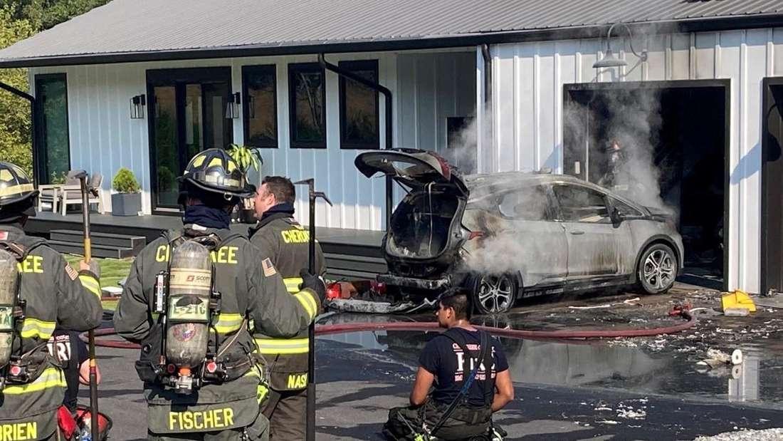 Feuerwehr-Einsatz wegen Chevrolet Bolt in Georgia