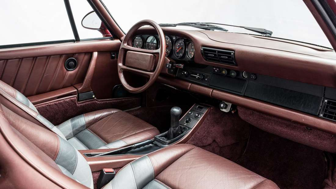 Blick in den Innenraum des Prototyps des Porsche 959