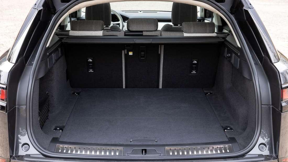 Ein Blick in den Laderaum des Range Rover Velar