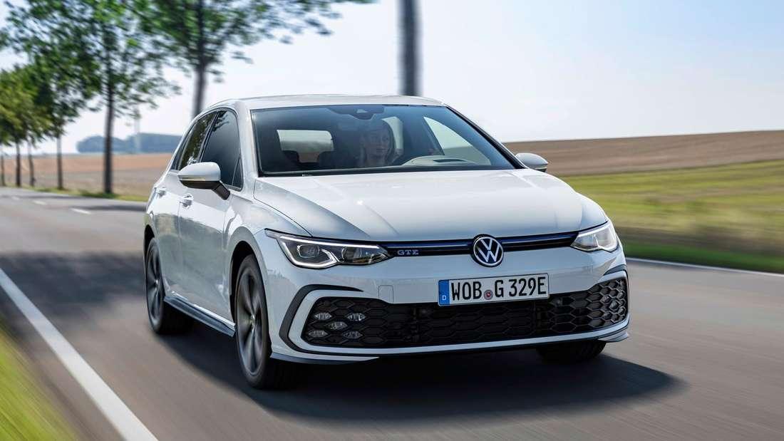 VW Golf GTE, fahrend