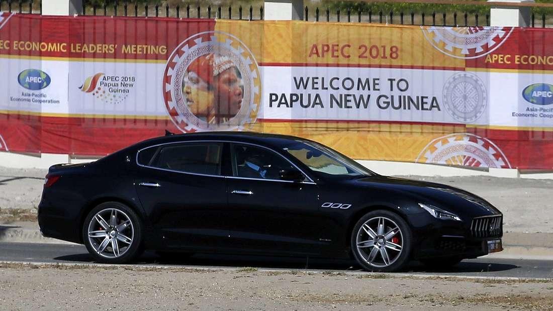 Maserati Quattroporte beim APEC-Gipfel in Papua-Neuguinea