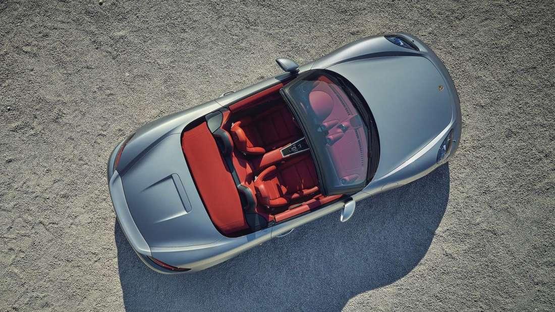 Porsche 718 Boxster Jubiläums-Edition 25 Jahre, von oben, stehend, offen